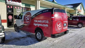 The fully-wrapped HG Signs van
