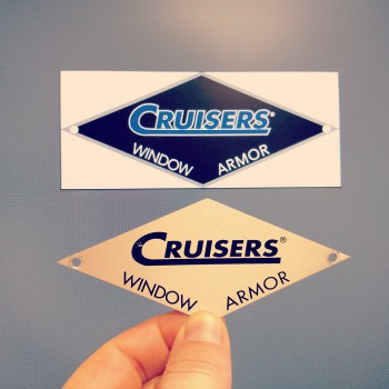 Recreating the Cruiser's logo in our editing software